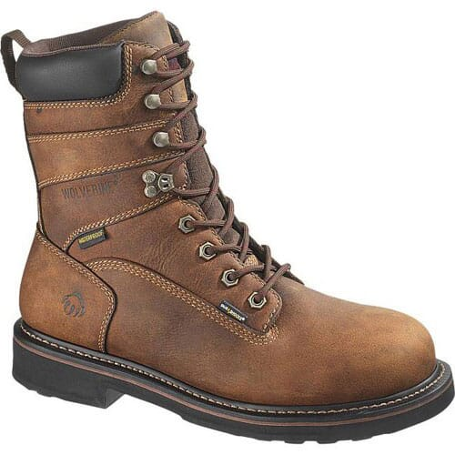 Image for Wolverine Men's 8IN Brek Safety Boots - Brown from bootbay