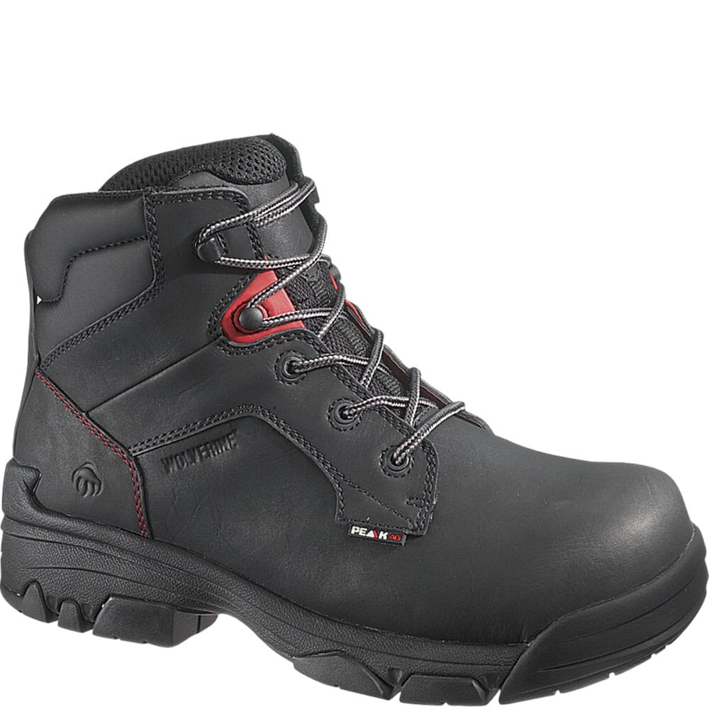 Image for Wolverine Men's Merlin Peak Safety Boots - Black from bootbay