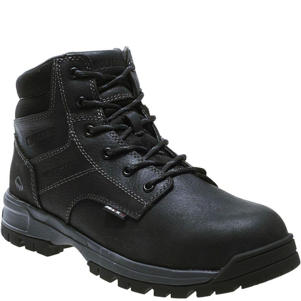 Image for Wolverine Men's Joliet WP Safety Boots - Black from bootbay