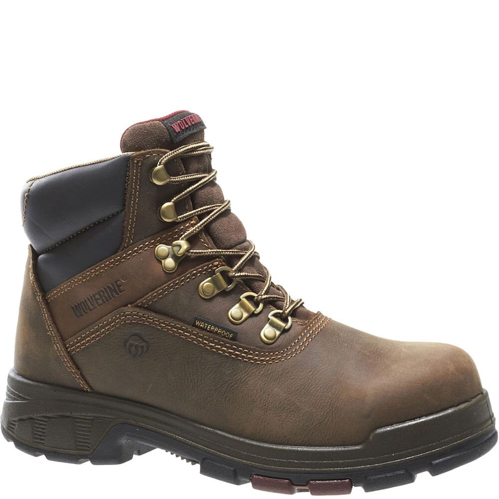 Image for Wolverine Men's Cabor EPX PC Dry WP Work Boots - Brown from bootbay