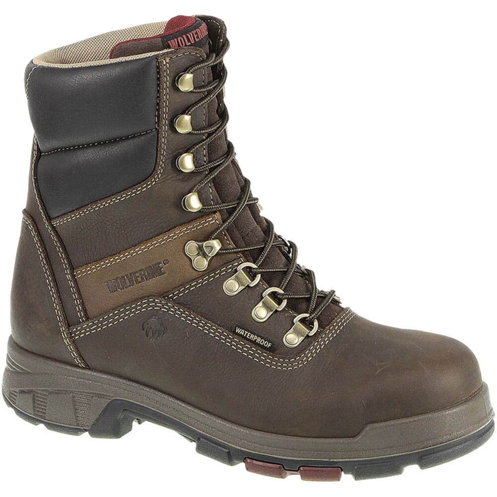 Image for Wolverine Men's Cabor EPX WP Safety Boots - Dark Brown from bootbay