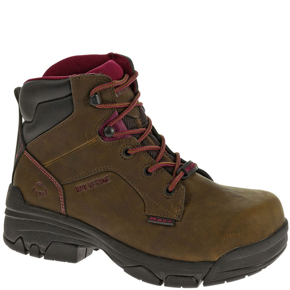 Image for Wolverine Women's Merlin WPF Safety Boots - Brown from bootbay