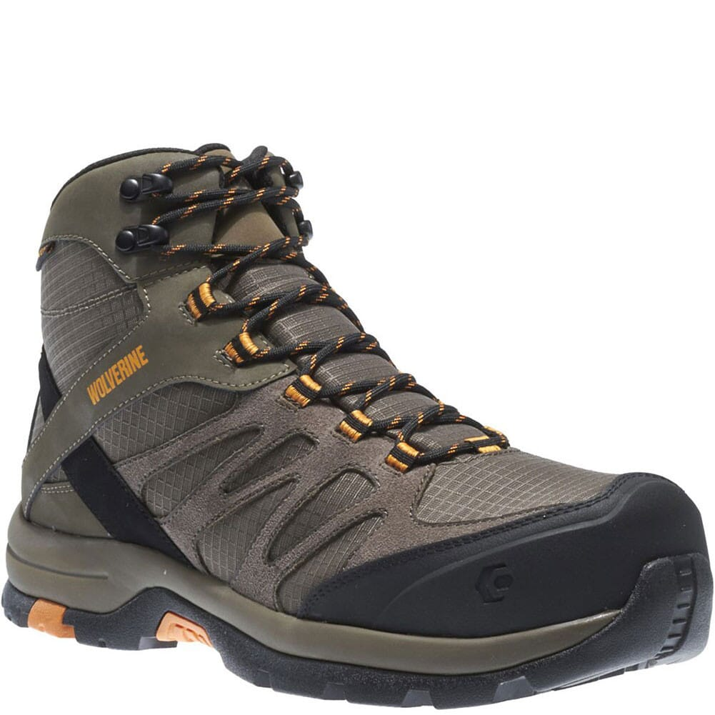 Image for Wolverine Men's Fletcher Mid WP Safety Boots - Taupe from bootbay