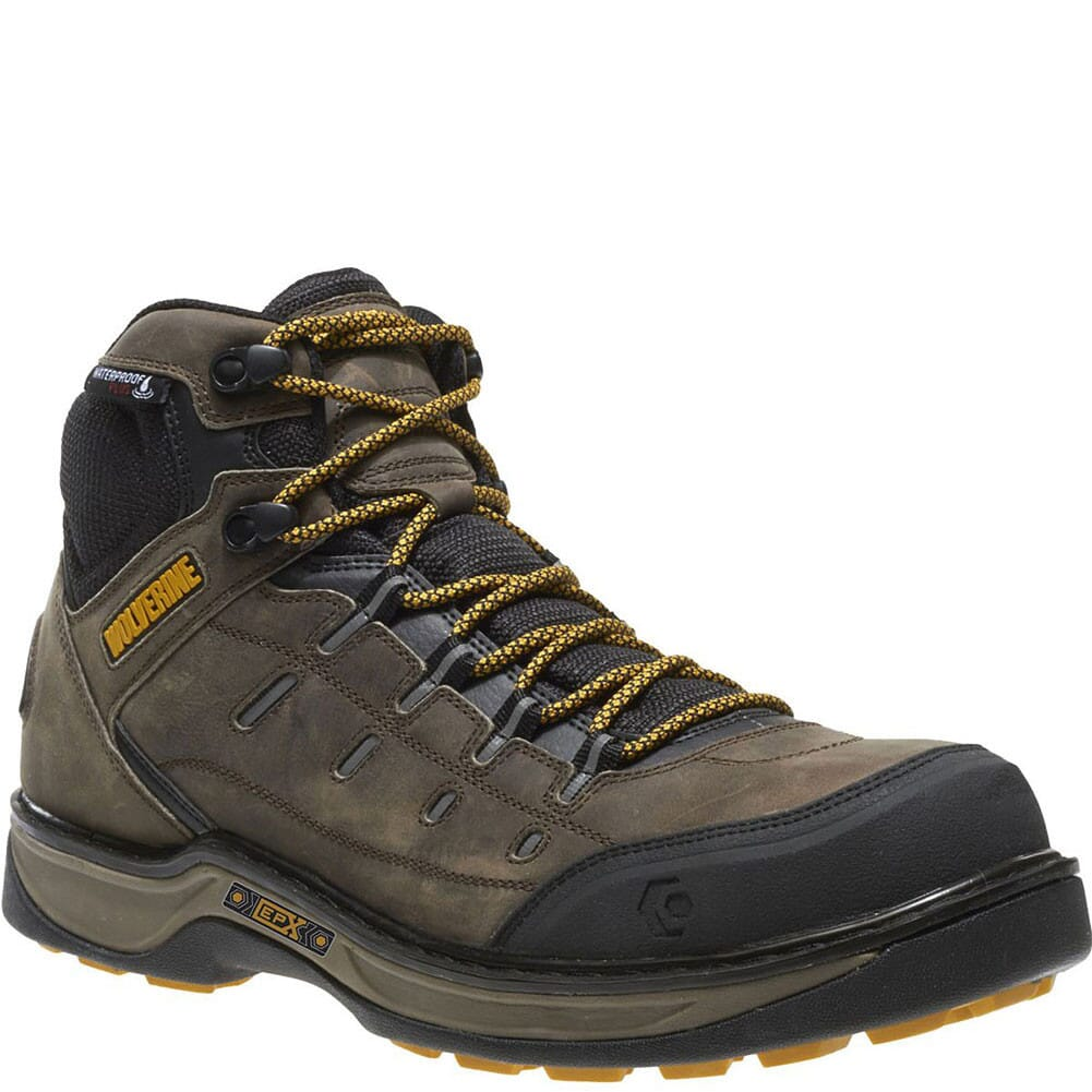 Image for Wolverine Men's Edge LX EPX Safety Boots - Taupe/Yellow from bootbay