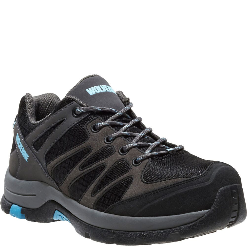 Image for Wolverine Women's Fletcher Low Safety Shoes - Grey/Blue from elliottsboots