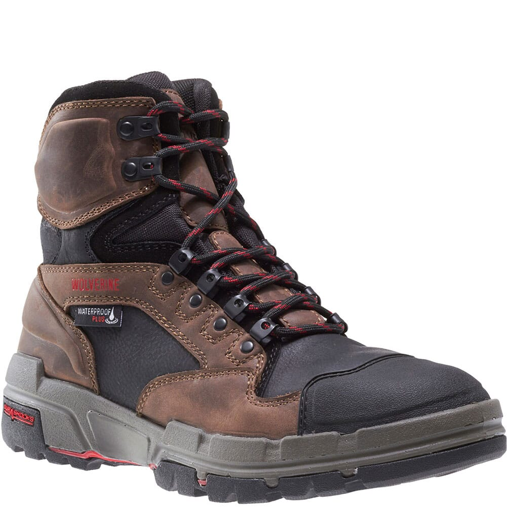 Image for Wolverine Men's Legend WP Safety Boots - Dark Brown from bootbay