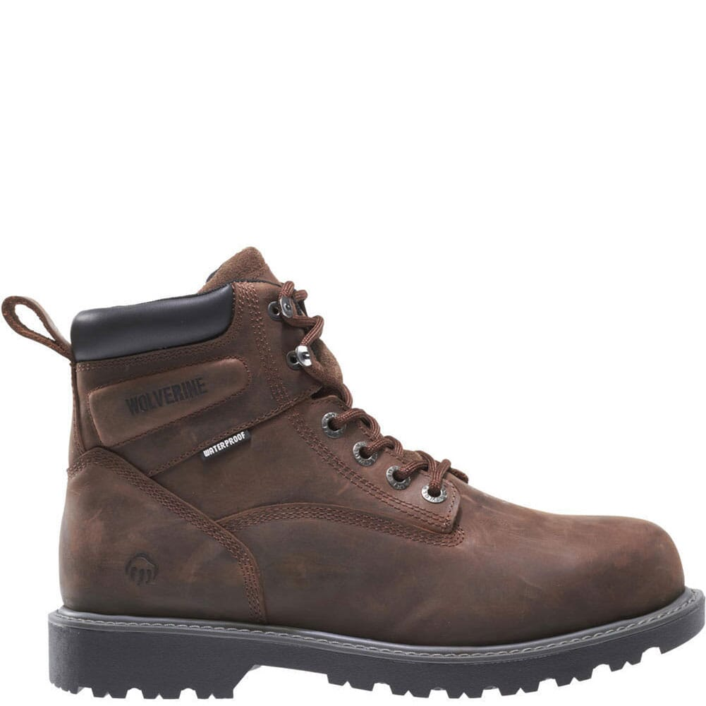 Image for Wolverine Men's Floorhand WP Work Boots - Dark Brown from bootbay