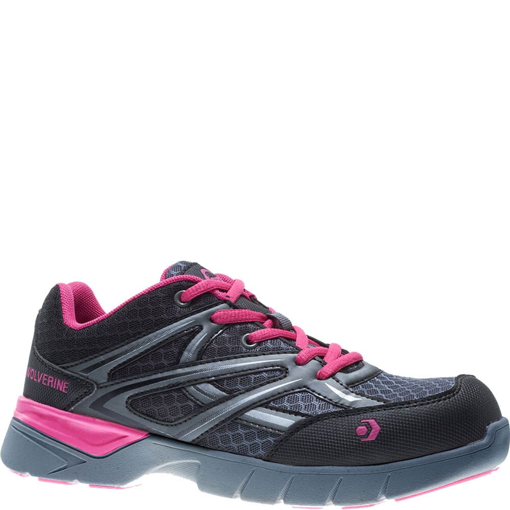 Image for Wolverine Women's Jetstream Safety Shoes - Grey/Pink from elliottsboots