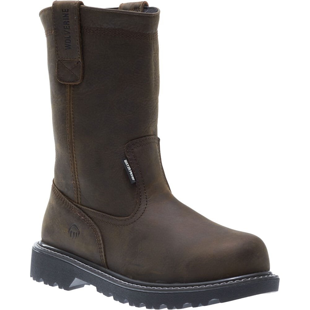 Image for Wolverine Men's Floorhand Welly Safety Boots - Dark Brown from bootbay