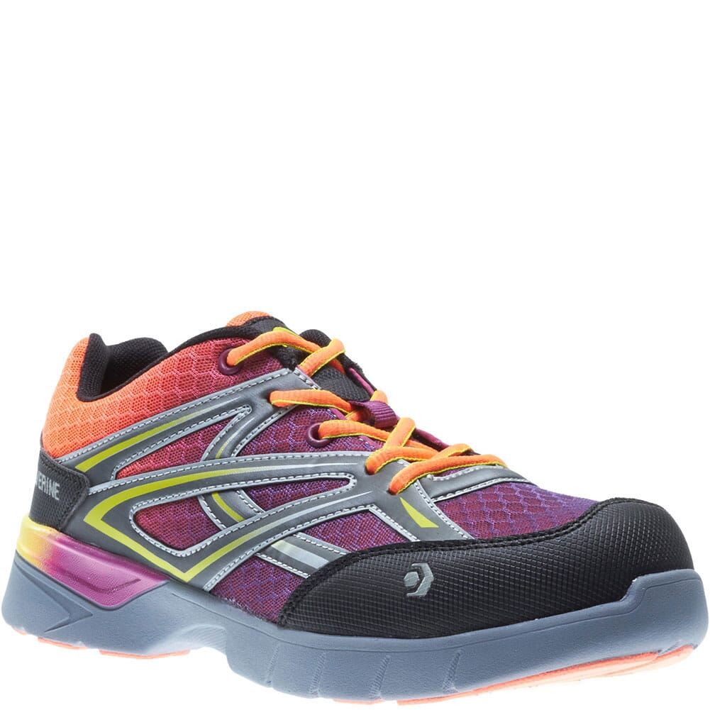 Image for Wolverine Women's Jetstream Safety Shoes - Orange/Purple from bootbay