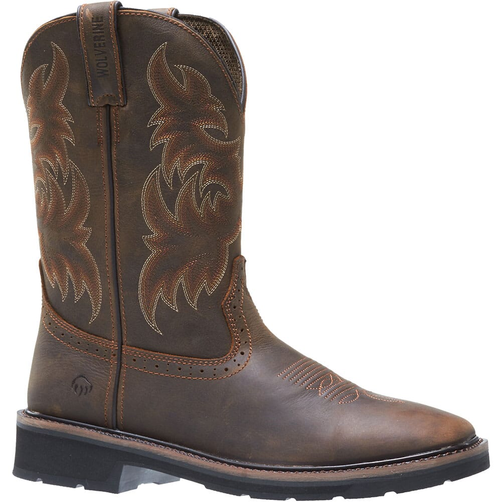 Image for Wolverine Men's Rancher Safety Boots - Dark Brown/Rust from bootbay