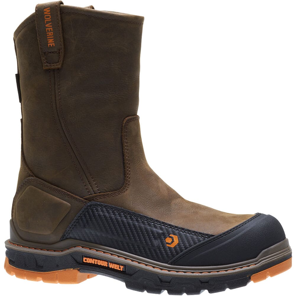 Image for Wolverine Men's Overpass Safety Boots - Dark Coffee from bootbay