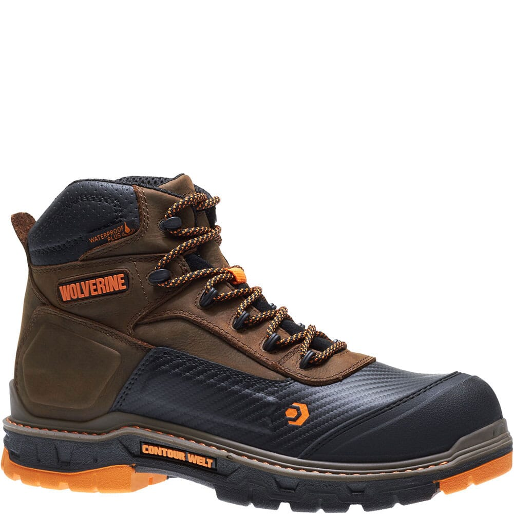 Image for Wolverine Men's Overpass Mid Safety Boots - Summer Brown from bootbay