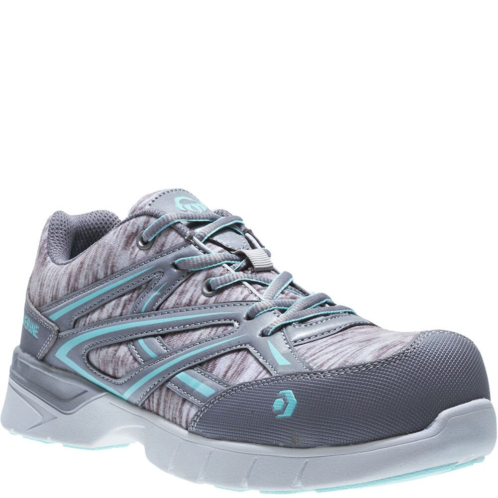 Image for Wolverine Women's Jetstream Safety Shoes - Grey/Blue from elliottsboots