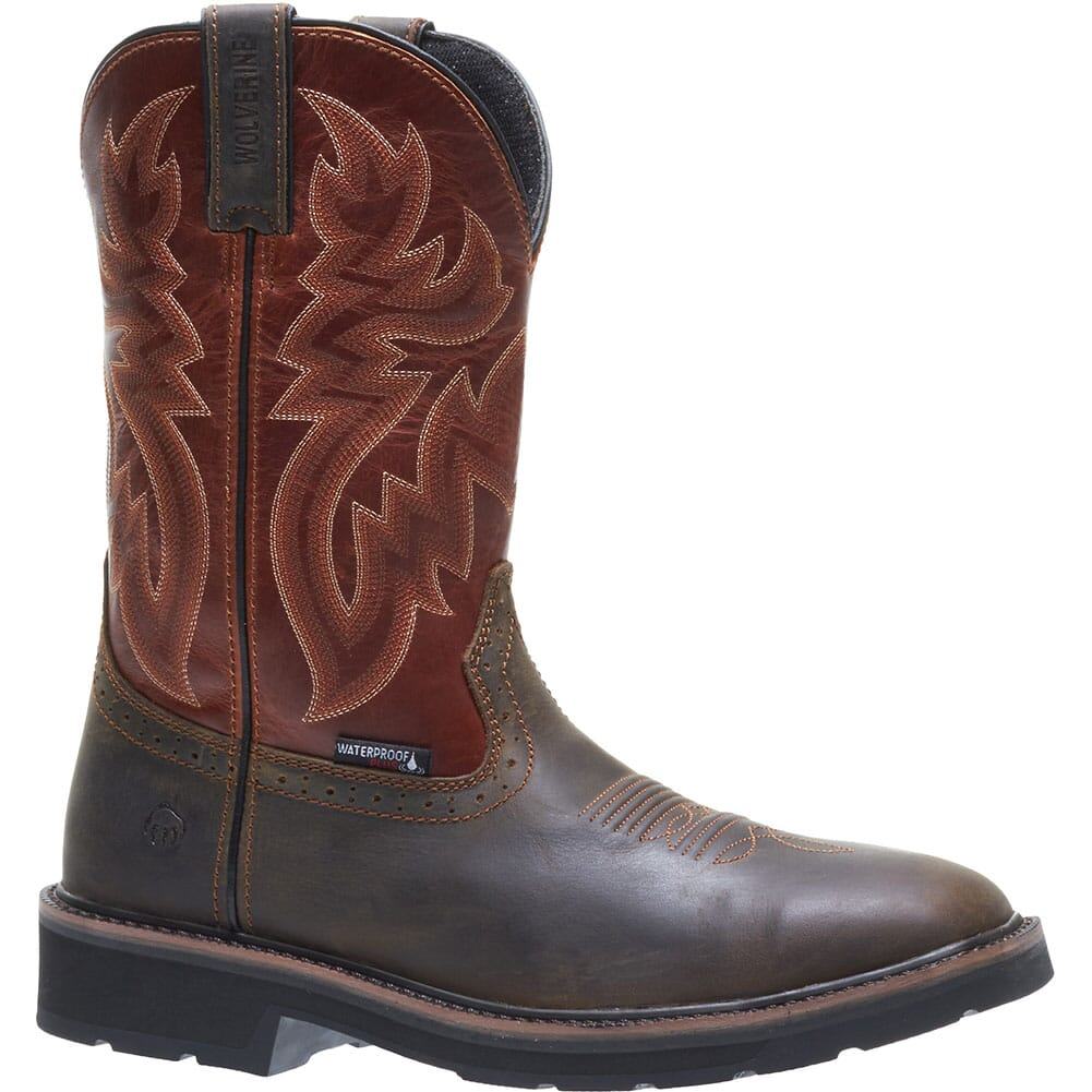 Image for Wolverine Men's Rancher WP Safety Boots - Rust/Brown from bootbay