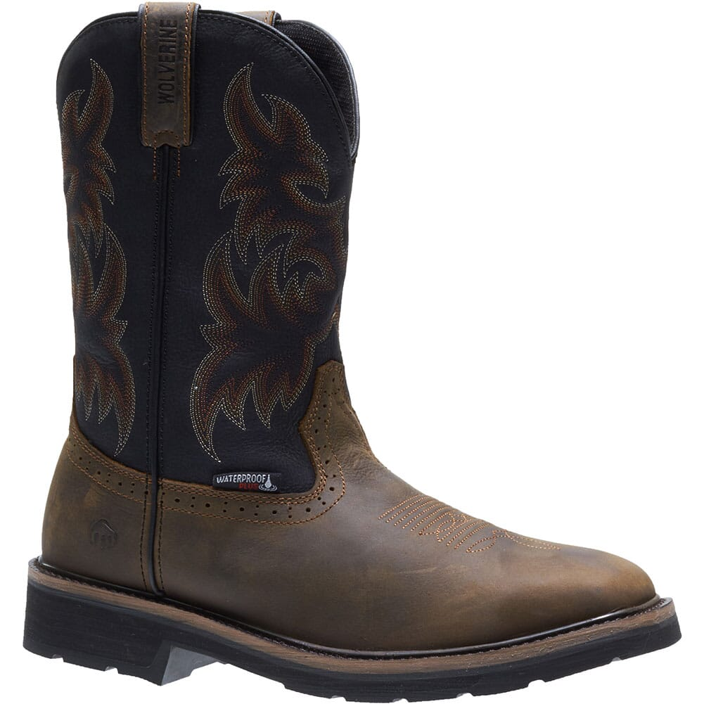 Image for Wolverine Men's Rancher WP Safety Boots - Black/Brown from bootbay