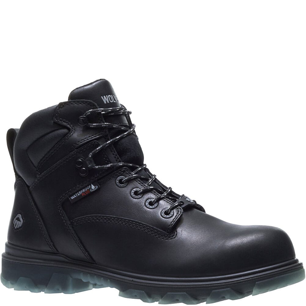 Image for Wolverine Men's I-90 Mid Safety Boots - Black from bootbay