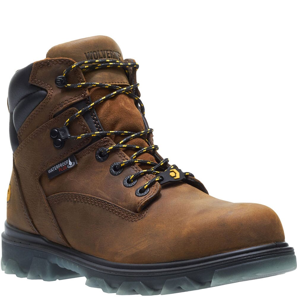 Image for Wolverine Men's I-90 Mid Safety Boots - Sudan Brown from bootbay