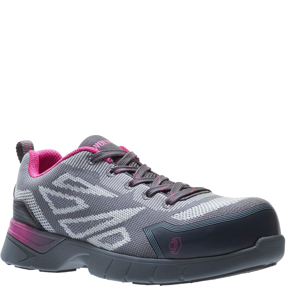 Image for Wolverine Women's Jetstream 2 Carbonmax Safety Shoes - Grey/Pink from elliottsboots