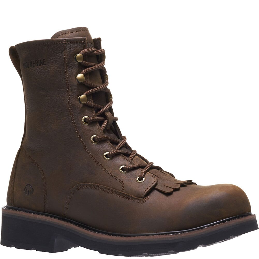 Image for Wolverine Men's Ranchero Lace Up Safety Boots - Brown from bootbay
