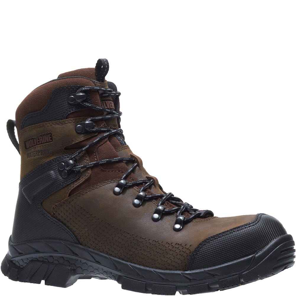Image for Wolverine Men's Glacier Xtreme WP Work Boots - Brown from bootbay