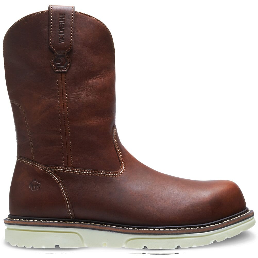 Image for Wolverine Men's I 90 Durashocks Pullon Work Boots - Brown from bootbay
