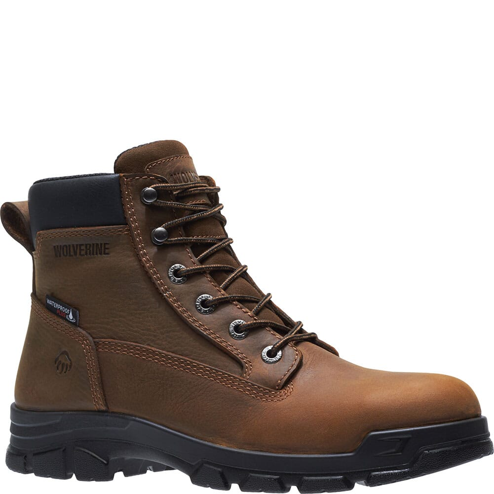 Image for Wolverine Men's Chainhand WP Safety Boots - Dark Brown from bootbay