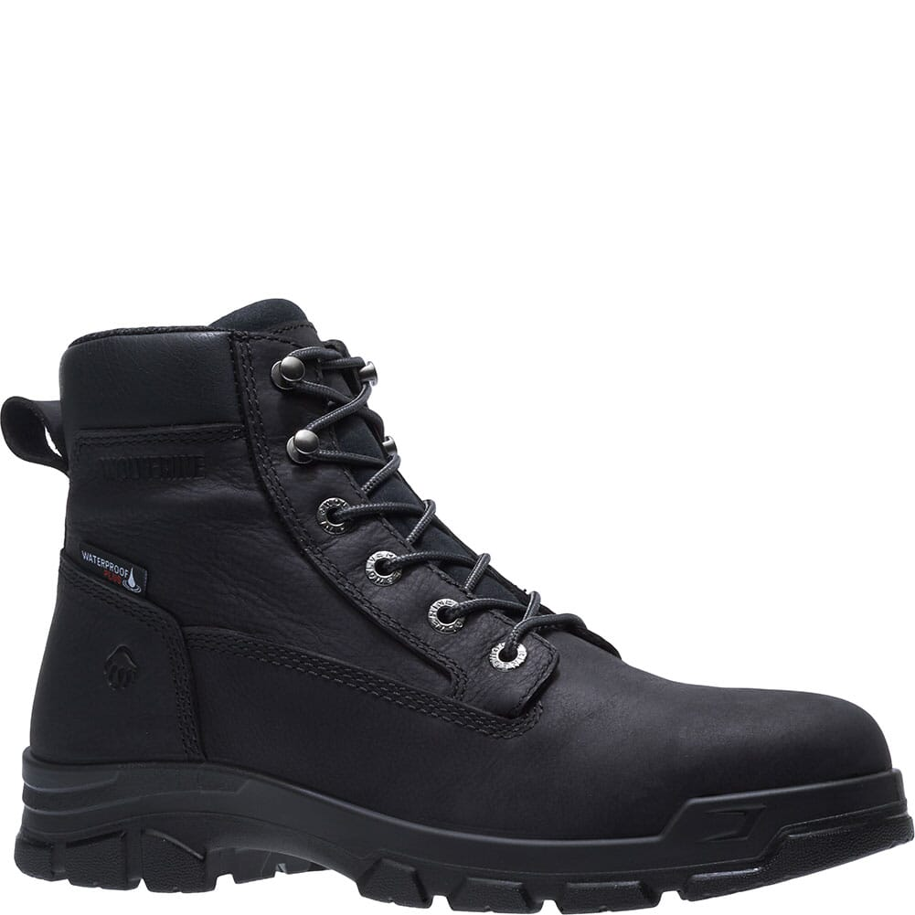 Image for Wolverine Men's Chainhand WP Work Boots - Black from bootbay