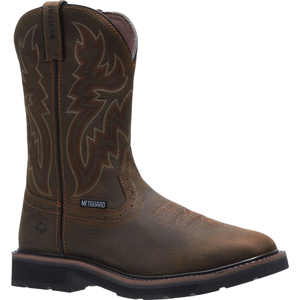 Image for Wolverine Men's Rancher Met Guard Safety Boots - Dark Brown from bootbay