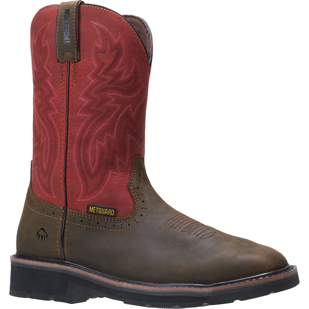 Image for Wolverine Men's Rancher Met Guard Safety Boots - Brown/Red from bootbay