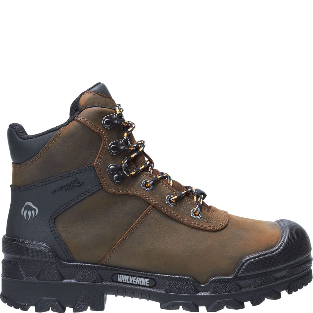 Image for Wolverine Men's Warrior Met-Guard Safety Boots - Dark Coffee from bootbay