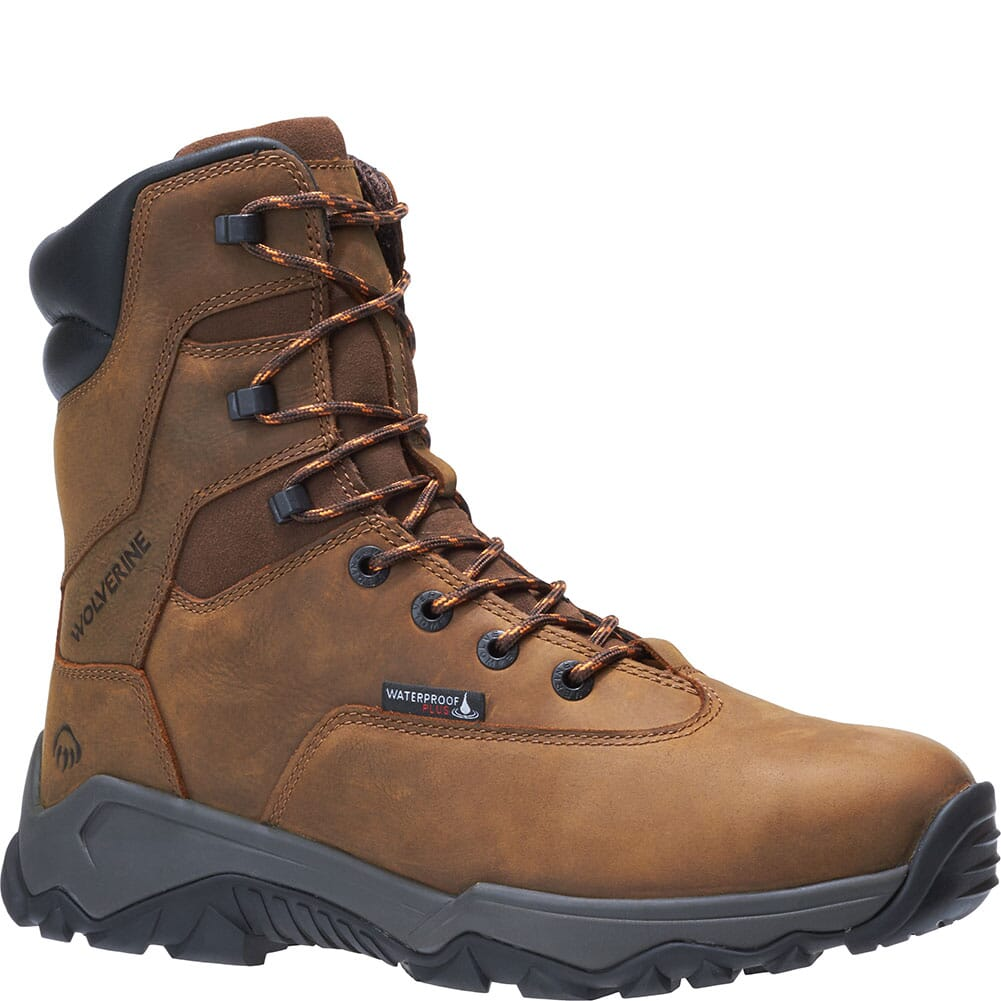 Image for Wolverine Men's Glacier II 8IN Hunting Boots - Brown from bootbay