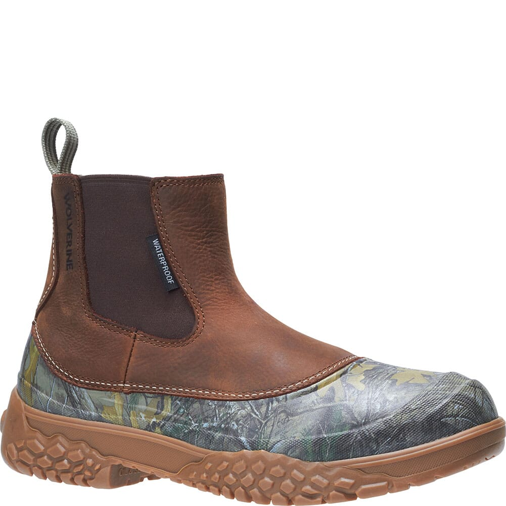 Image for Wolverine Men's Yak Chelsea Hunting Boots - Camo/Brown from bootbay
