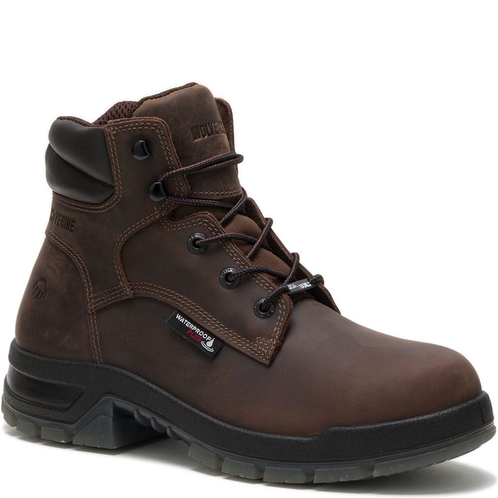 Image for Wolverine Men's Ramparts 6IN Work Boots - Dark Brown from bootbay