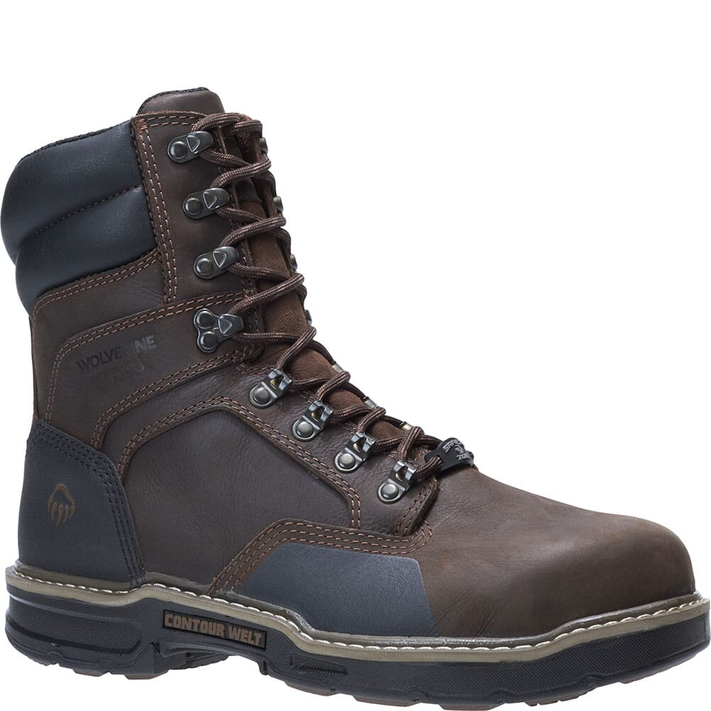 Image for Wolverine Men's Bandit 8IN Safety Boots - Dark Brown from bootbay