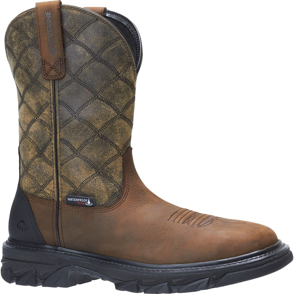 Image for Wolverine Men's Ranch King WP Safety Boots - Dark Wheat from bootbay