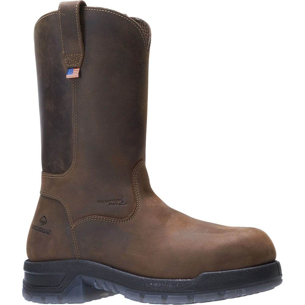 Image for Wolverine Men's Ramparts Wellington Safety Boots - Dark Brown from bootbay