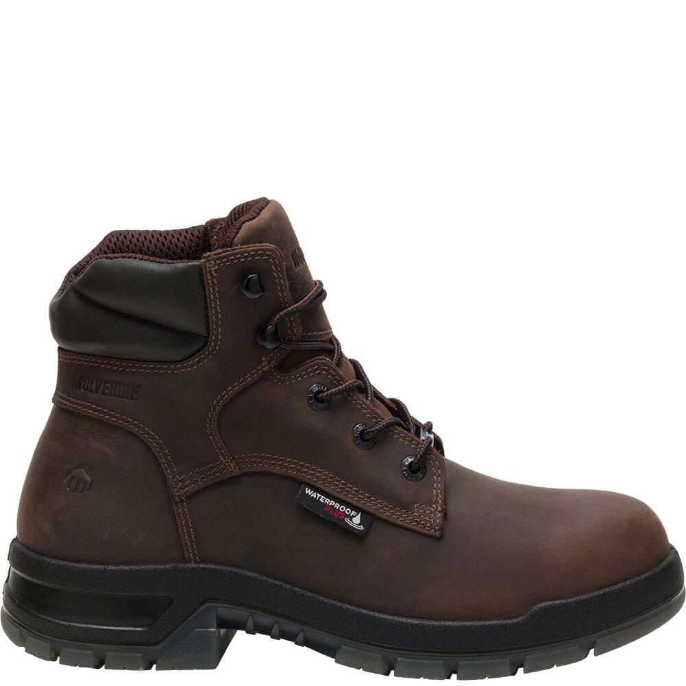 Image for Wolverine Men's Ramparts WP Safety Boots - Dark Brown from bootbay