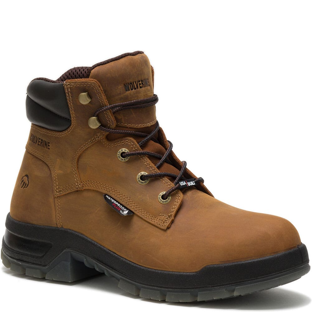 Image for Wolverine Men's Ramparts WP Safety Boots - Tan from bootbay