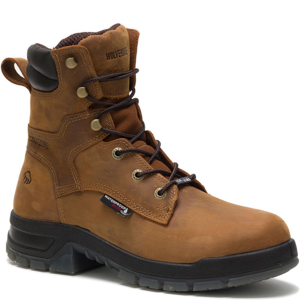Image for Wolverine Men's Ramparts Wellington Safety Boots - Tan from bootbay
