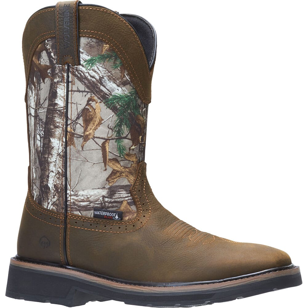 Image for Wolverine Men's Rancher Camo Safety Boots - Brown/Realtree from bootbay