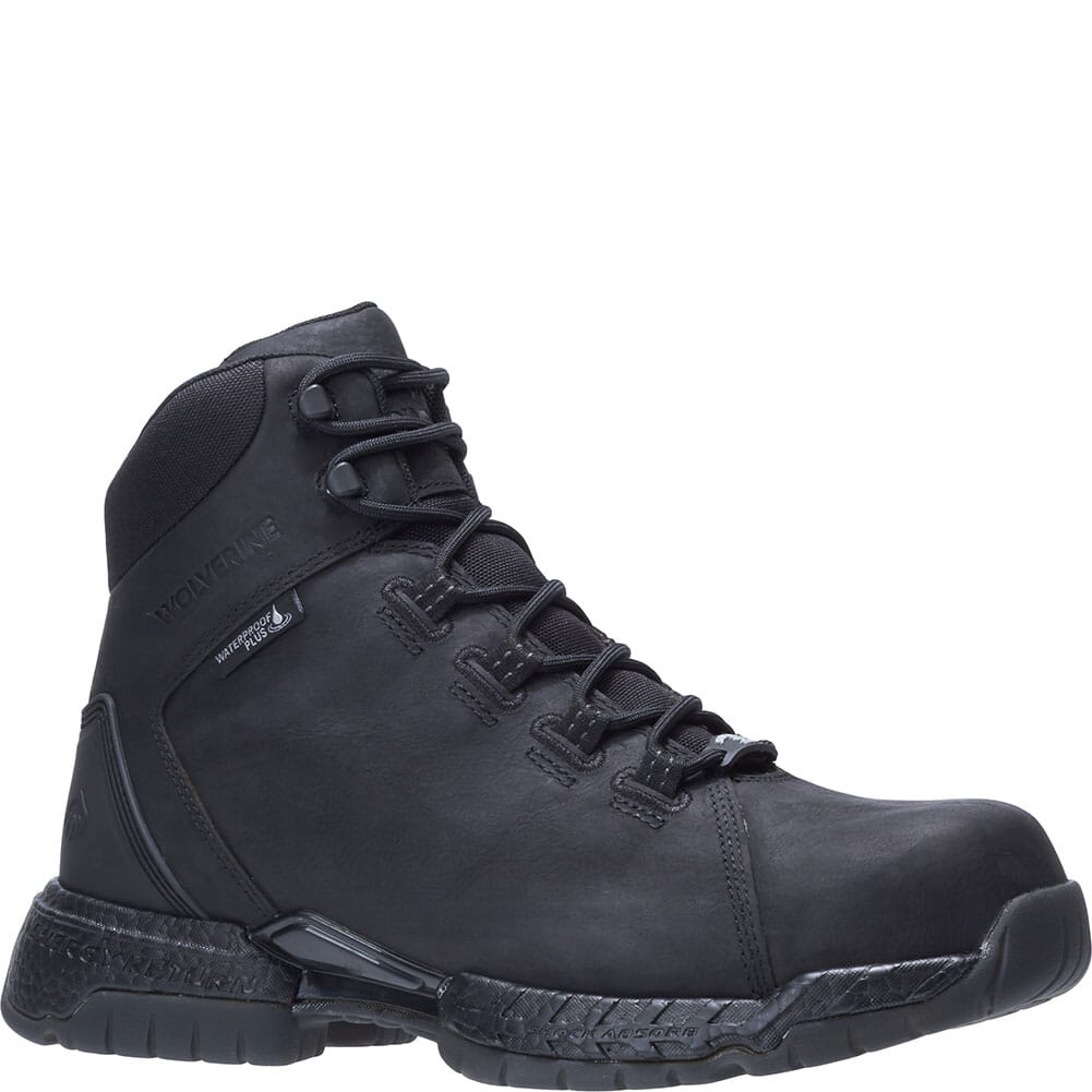 Image for Wolverine Men's I-90 Rush 6IN Safety Boots - Black from bootbay