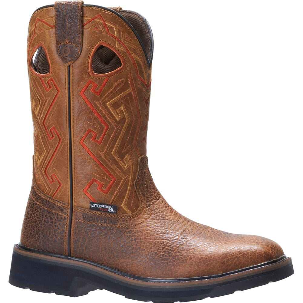 Image for Wolverine Men's Rancher Aztec Work Boots - Tan from elliottsboots