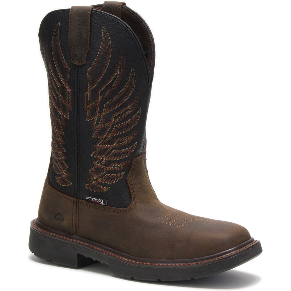Image for Wolverine Men's Stockman WP Safety Boots - Black/Brown from bootbay