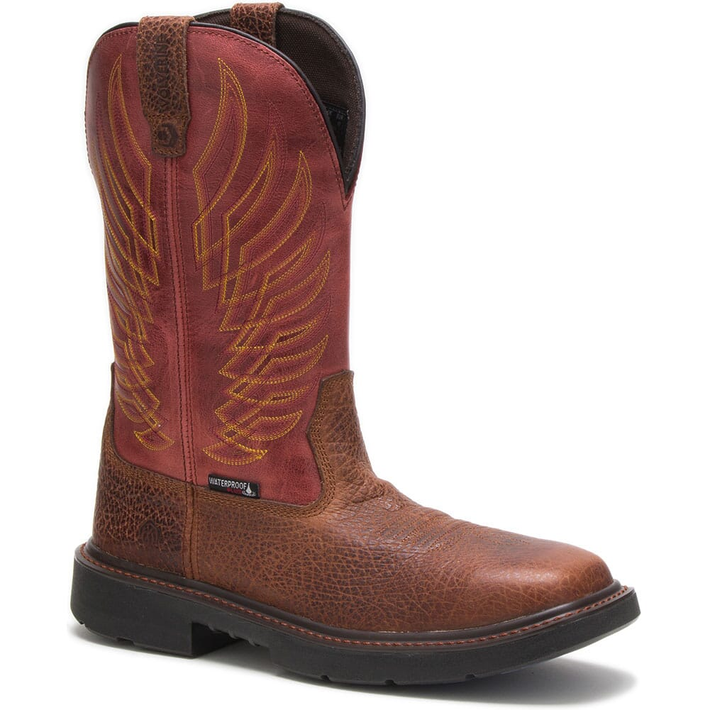 Image for Wolverine Men's Stockman WP Safety Boots - Chili from bootbay