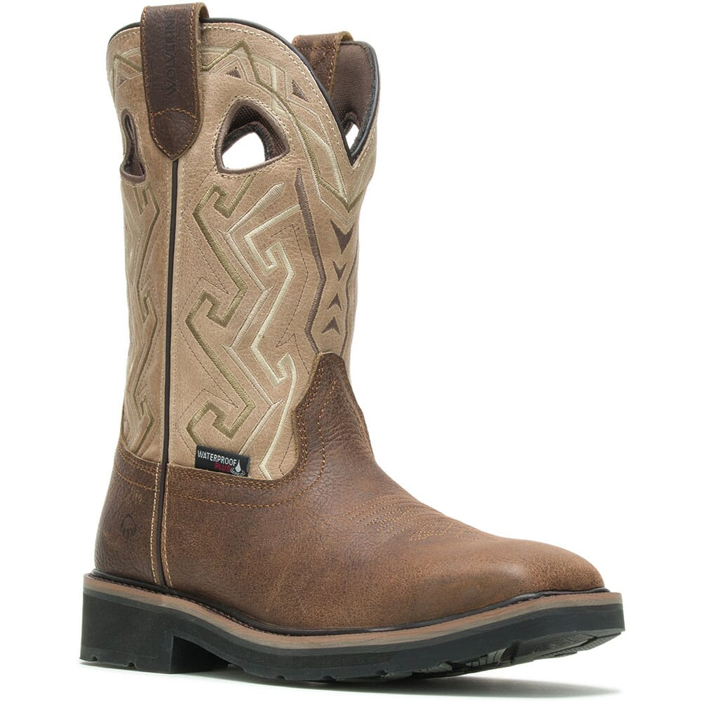 Image for Wolverine Men's Rancher Aztec Safety Boots - Bone from bootbay