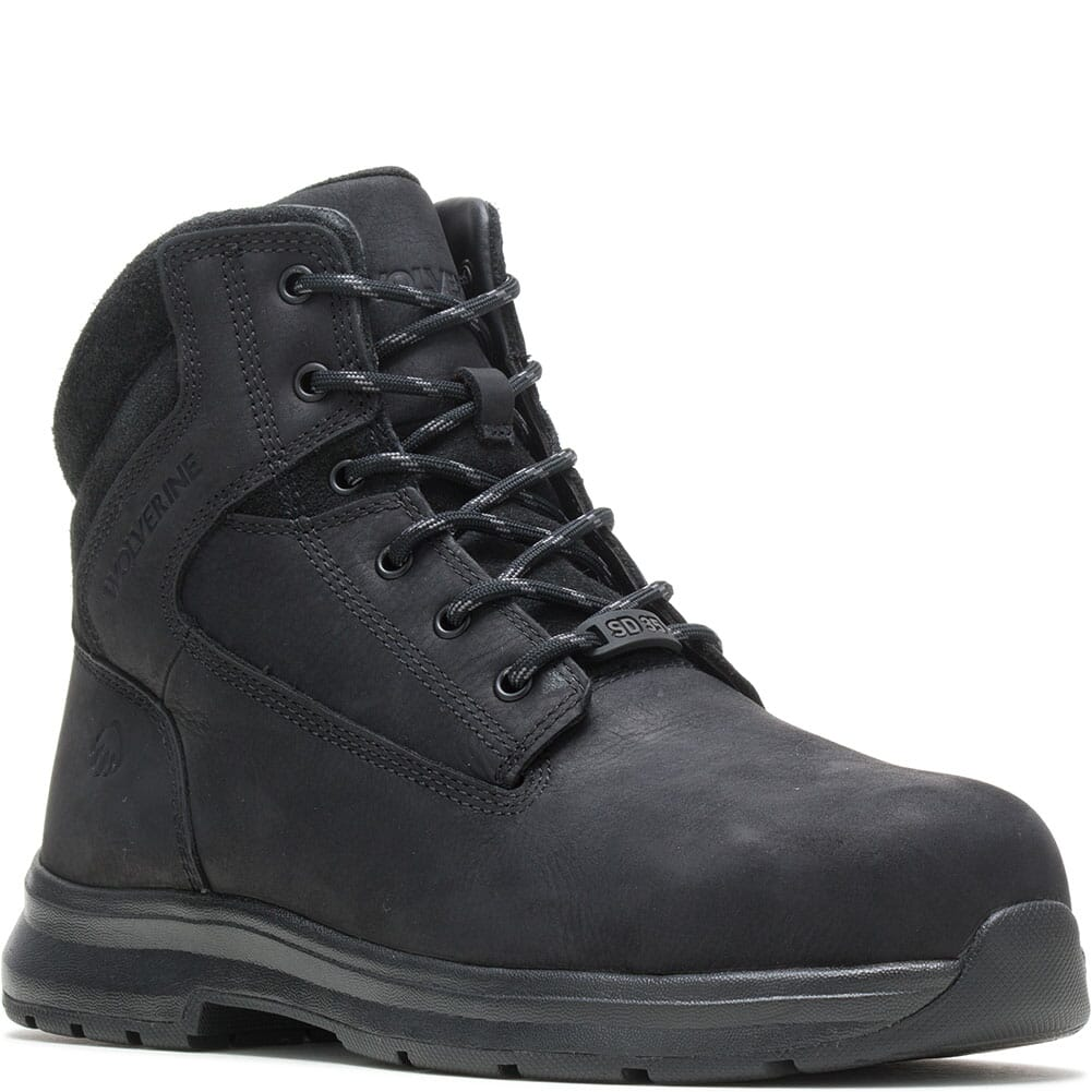 Image for Wolverine Men's Logan ESD Safety Boots - Black from bootbay