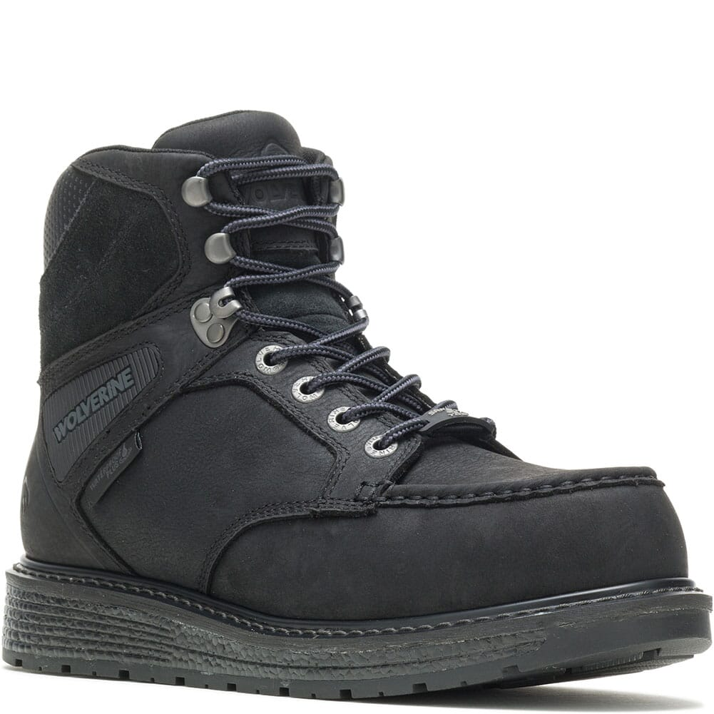 Image for Wolverine Men's Hellcat Wedge Work Boots - Black from bootbay
