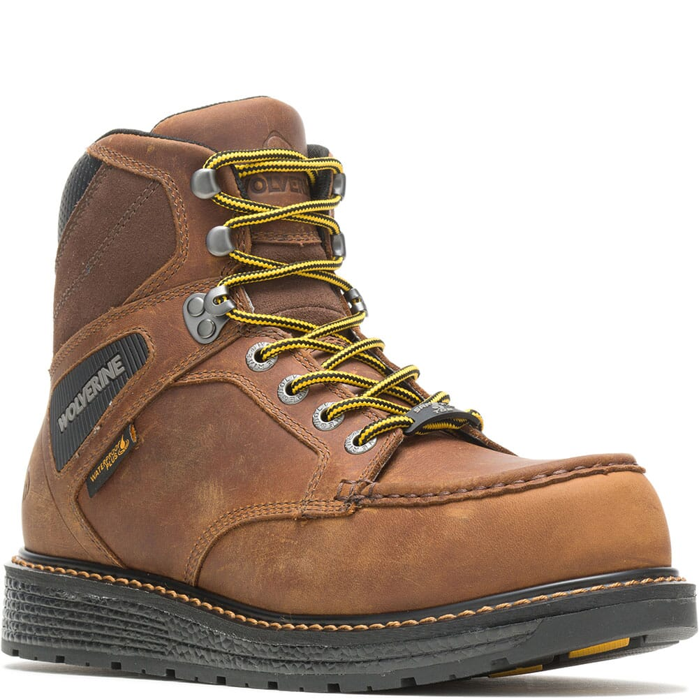Image for Wolverine Men's Hellcat Wedge Safety Boots - Tobacco from bootbay