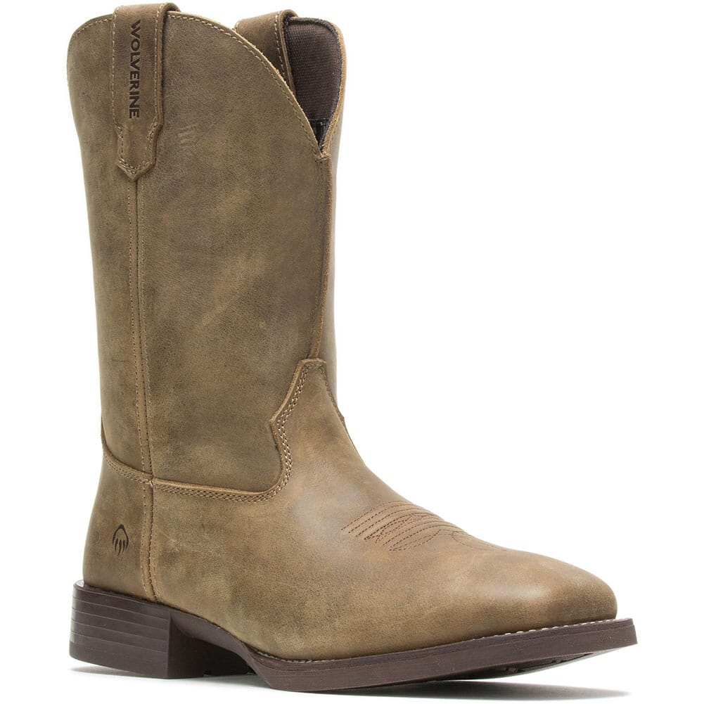 Image for Wolverine Men's Bronc Western Boots - Gravel from bootbay